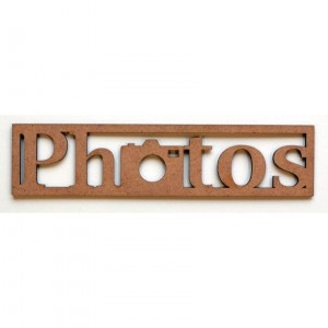 "Mot en Bois ""Photos"" N°2 GM"