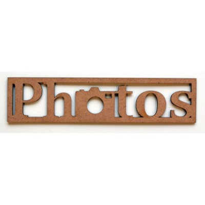 "Mot en Bois ""Photos"" N°2 GM"