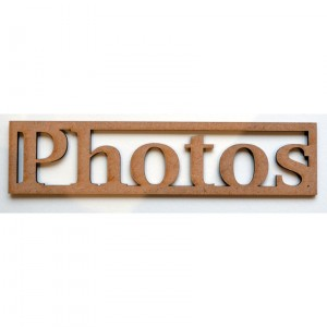 "Mot en Bois ""Photos"" N°1 GM"