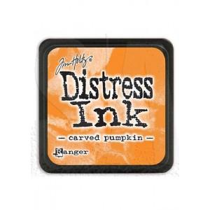 Mini Distress Carved Pumpkin
