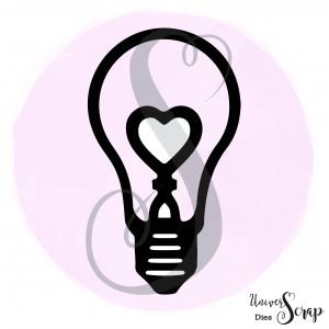 Dies ampoule coeur