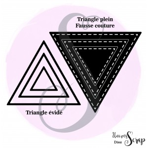 Dies 3 triangles fausse couture & 3 triangles evidés