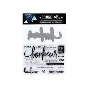 Combo Die&Clear Bonheur