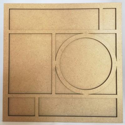 Cadre bois 20 cm avec Rond