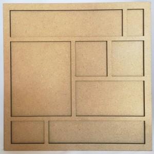 Cadre bois 22 cm Petits carrés