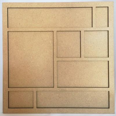 Cadre bois 20 cm Petits carrés
