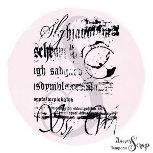 Tampon Fond écriture grunge
