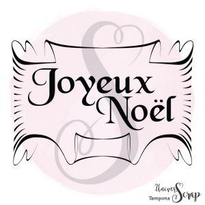 """Tampon Etiquette """"Joyeux Noël"""""""