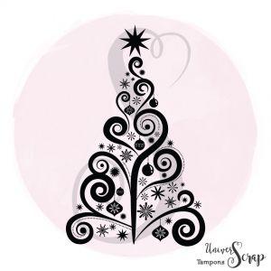 Tampon Sapin de Noël 1