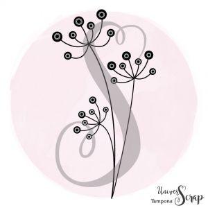 Tampon Fleurs rétro