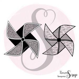 Tampon Duo de Moulins à vent
