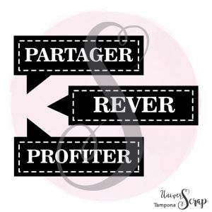 Tampon Partager-Rêver-Profiter