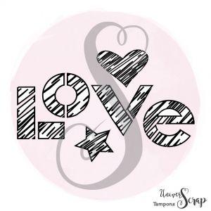 Tampon Love destructuré