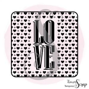 Tampon Love fond coeur