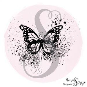 Tampon Papillon grunge