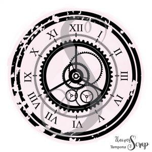 Tampon Horloge grunge