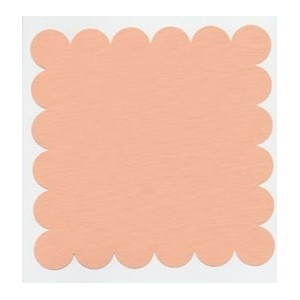 SCALLOPED PEACH GLOW-Papier Bazzill 30X30