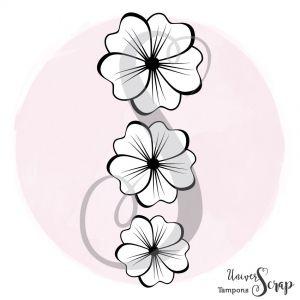 Tampon 3 Petites Fleurs