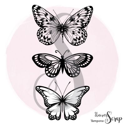 Tampon Trio de Papillons