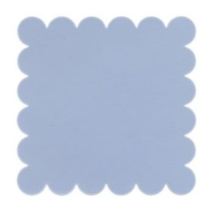 SCALLOPED LIGHT DENIM-Papier Bazzill 30X30