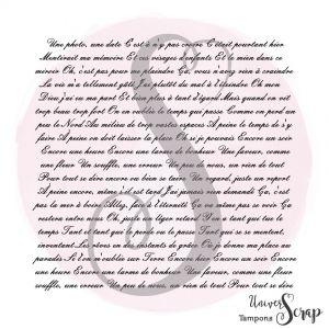 Tampon Fond Ecriture script