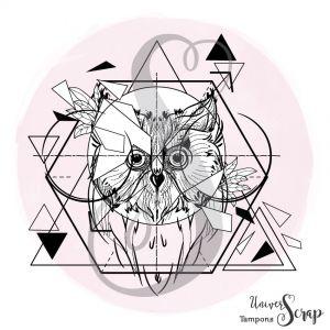 Tampon Hibou géometrique