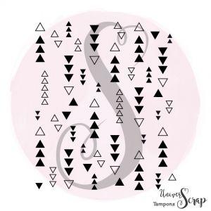 Tampon Fond Farandole de triangles