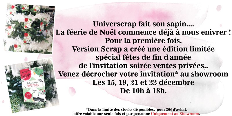 Invitation VIP VS 2019 Noël